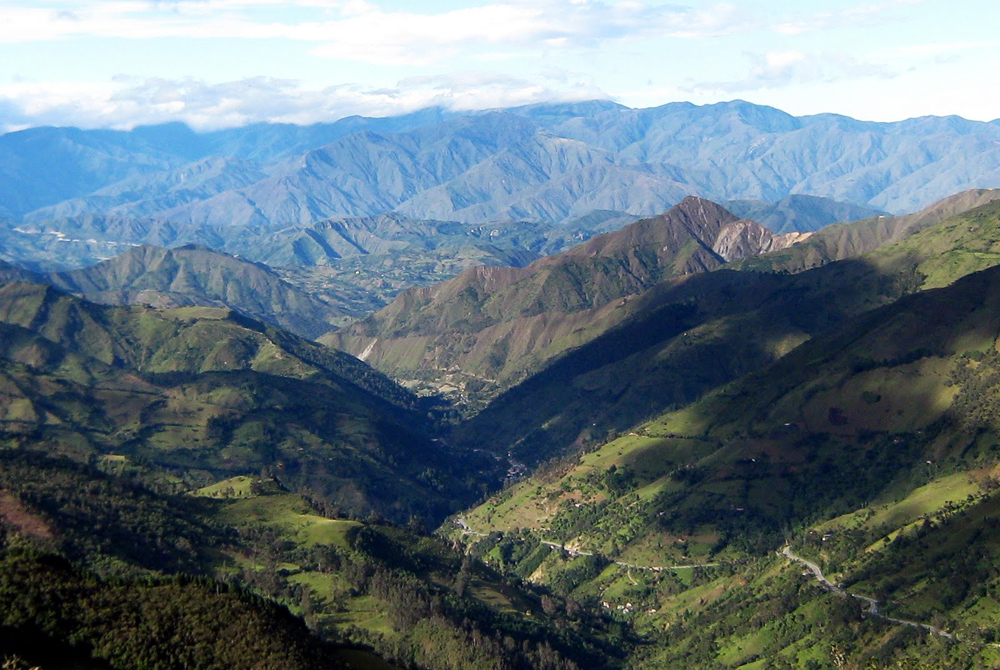 The last descent from the Andes to the Amazon
