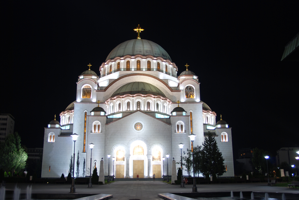 Cathedral of Saint Sava, Belgrade by night
